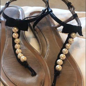Kate Spade ♠️ Pearl Thong Sandals